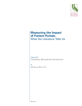 Measuring the Impact of Patient Portals: What the Literature Tells Us