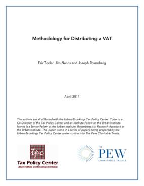Methodology for Distributing a VAT