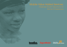 Mobile Value Added Services: A Business Growth Opportunity for Women Entrepreneurs