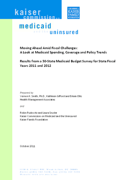 Moving Ahead Amid Fiscal Challenges: A Look at Medicaid Spending, Coverage and Policy Trends