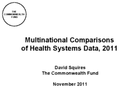 Multinational Comparisons of Health Systems Data, 2011