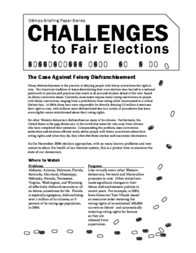 Challenges to Fair Elections 4: The Case Against Felony Disfranchisement