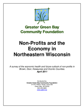 Non-Profits and the Economy in Northeastern Wisconsin