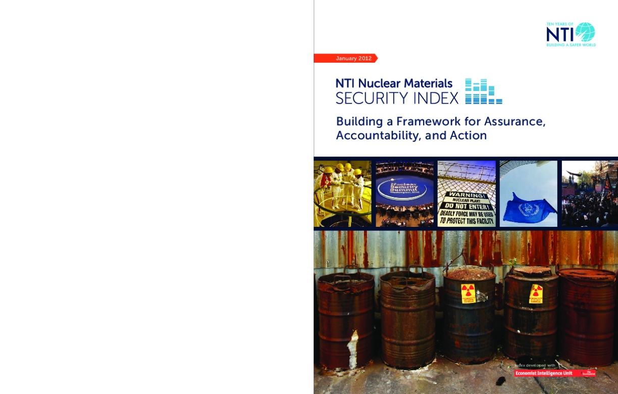 NTI Nuclear Materials Security Index: Building a Framework for Assurance, Accountability, and Action