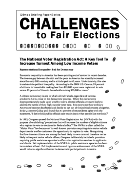 Challenges to Fair Elections 6: National Voter Registration Act