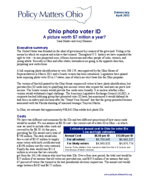 Ohio Photo Voter ID: A Picture Worth $7 Million a Year?