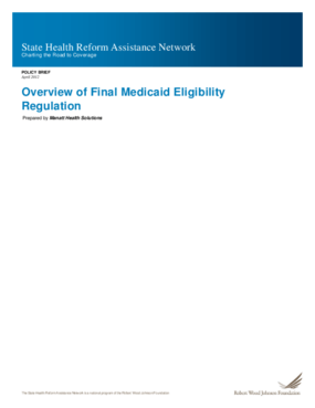Overview of Final Medicaid Eligibility Regulation