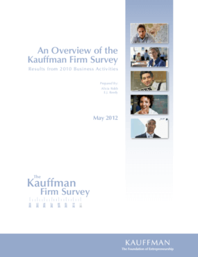 An Overview of the Kauffman Firm Survey: Results From 2010 Business Activities