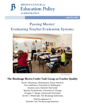 Passing Muster: Evaluating Teacher Evaluation Systems