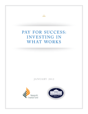 Pay for Success: Investing in What Works