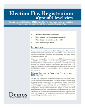 Election Day Registration: A Ground Level View