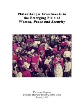Philanthropic Investments in the Emerging Field of Women, Peace and Security