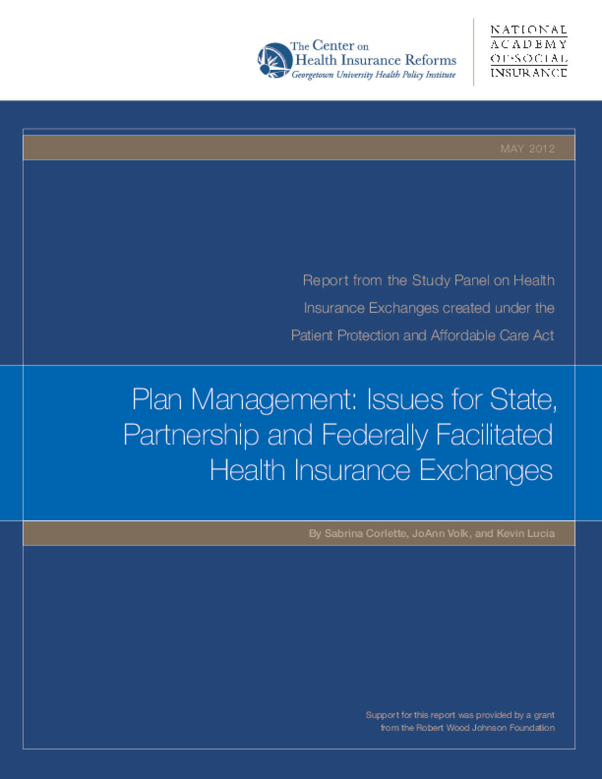 Plan Management: Issues for State, Partnership and Federally Facilitated Health Insurance Exchanges