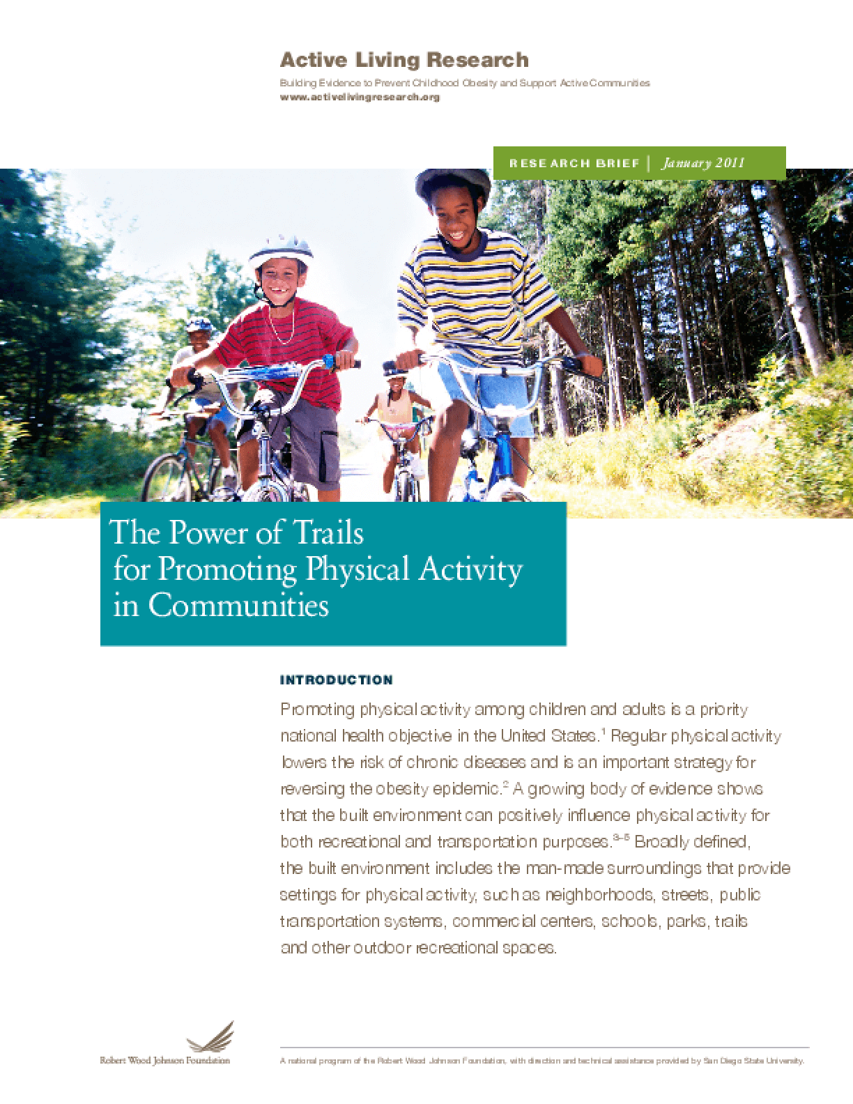 The Power of Trails for Promoting Physical Activity in Communities