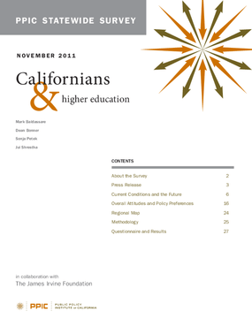 PPIC Statewide Survey: Californians and Higher Education November 2011