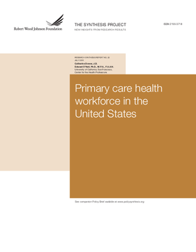 Primary Care Health Workforce in the United States