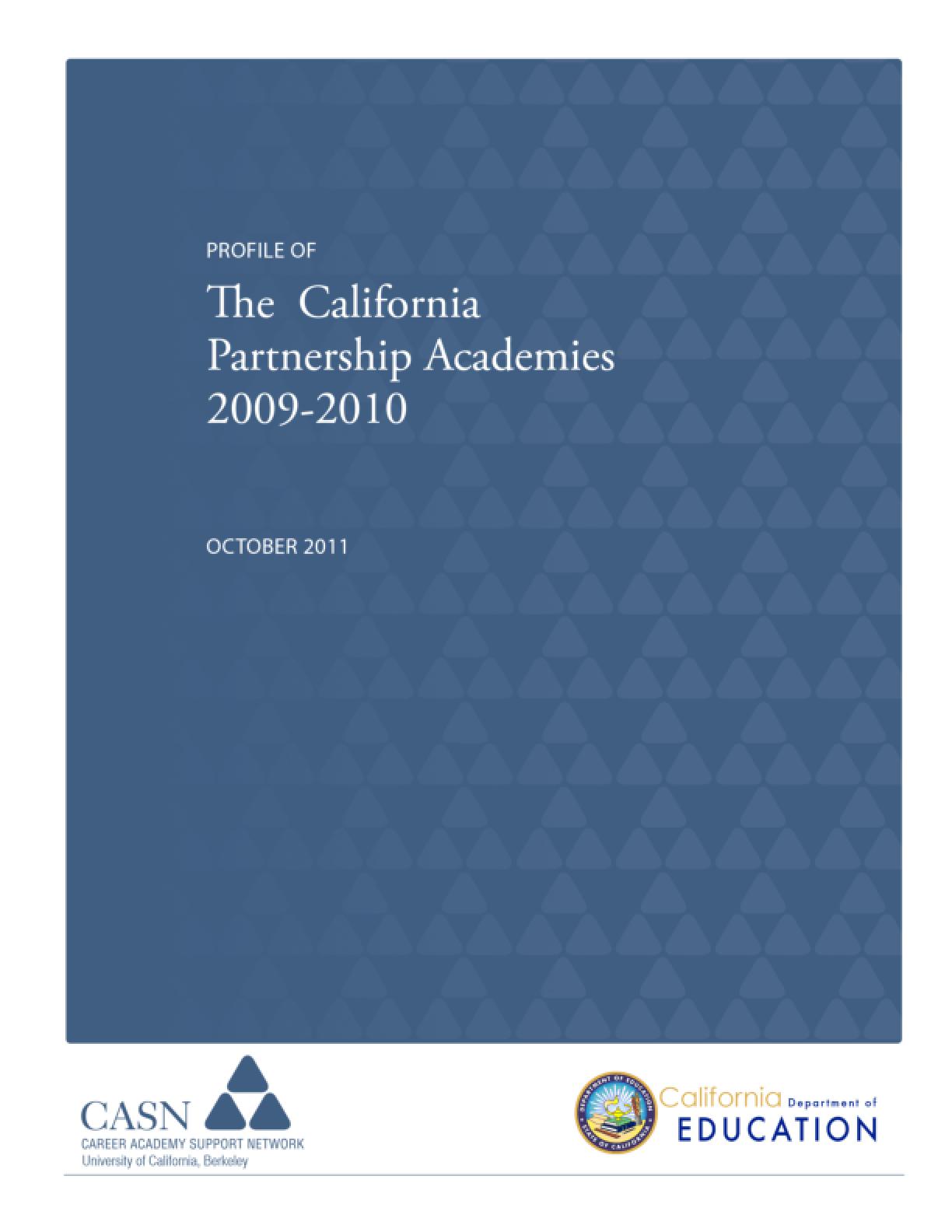Profile of the California Partnership Academies 2009-2010