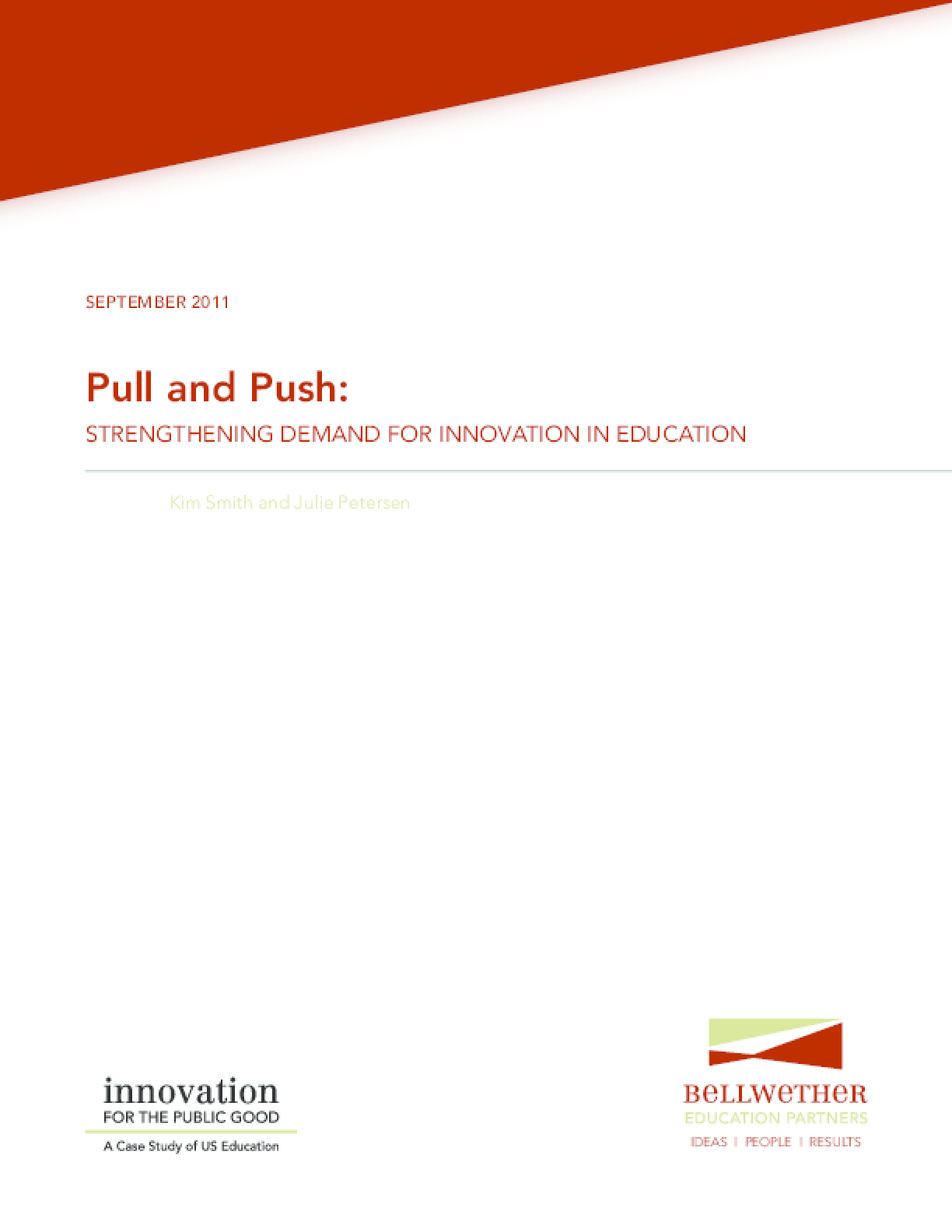Pull and Push: Strengthening Demand for Innovation in Education