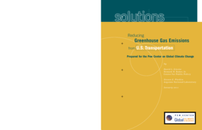Reducing Greenhouse Gas Emissions From U.S. Transportation