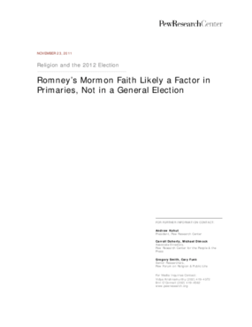 Religion and the 2012 Election: Romney's Mormon Faith Likely a Factor in Primaries, Not in a General Election