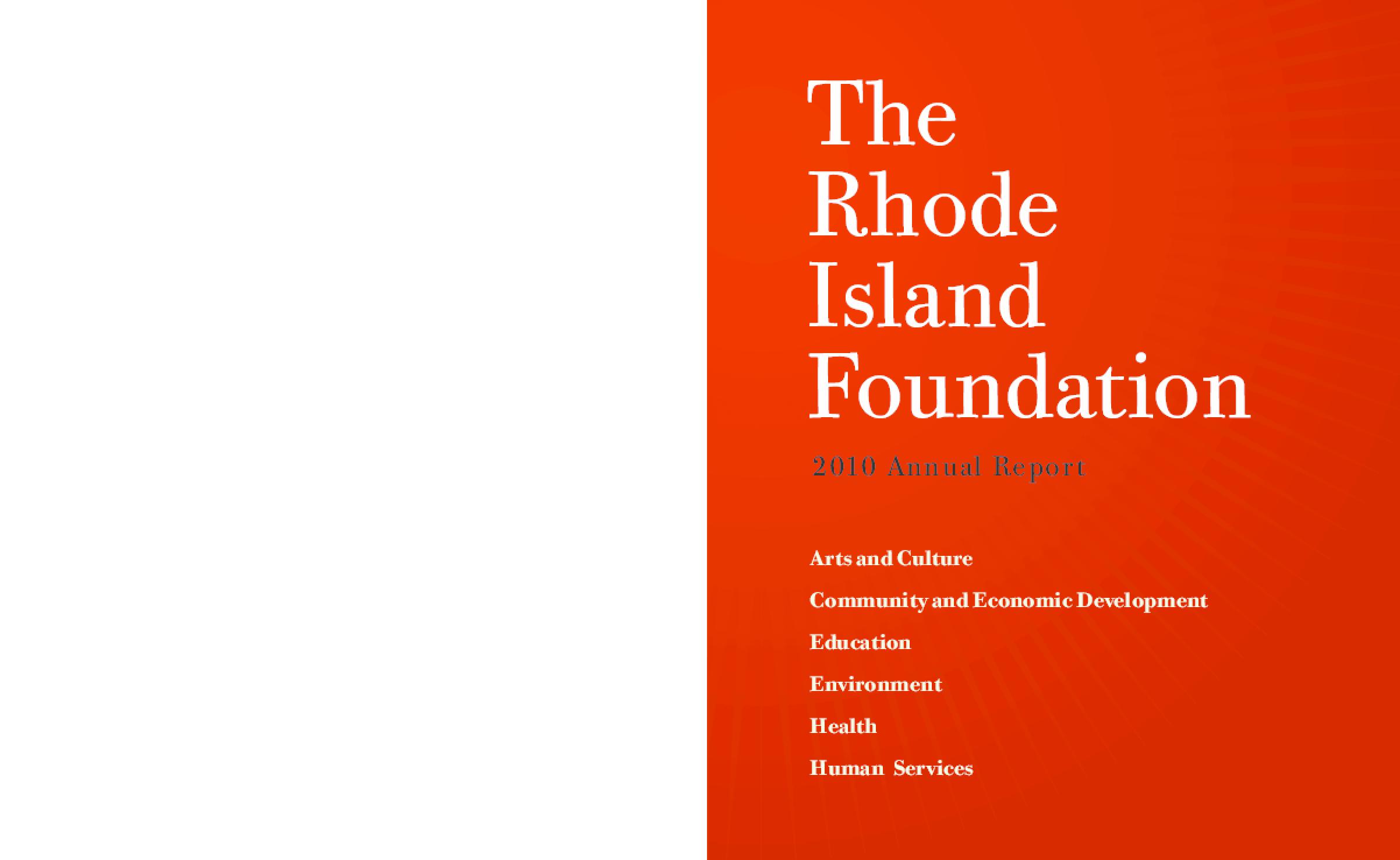 Rhode Island Foundation 2010 Annual Report