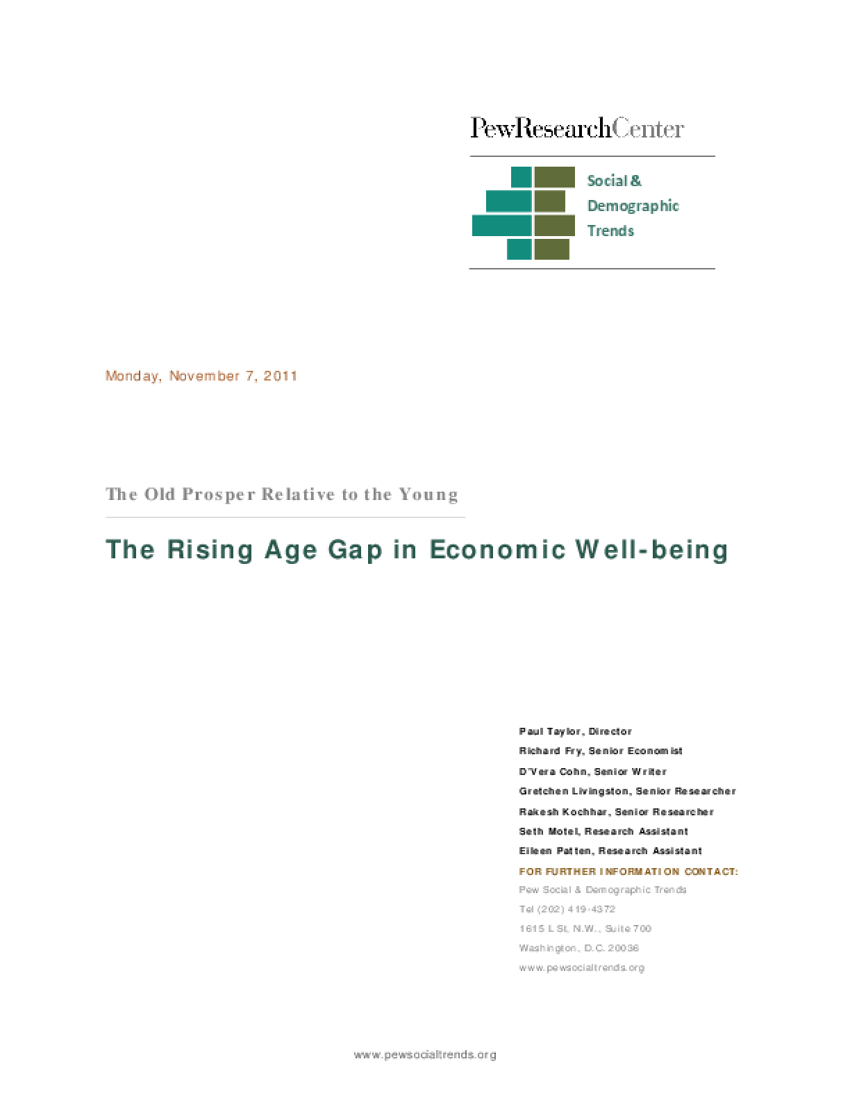 The Rising Age Gap in Economic Well-Being