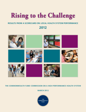 Rising to the Challenge: Results From a Scorecard on Local Health Performance, 2012