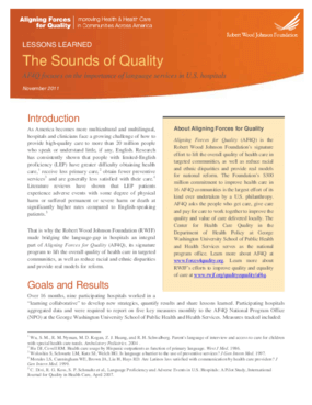 The Sounds of Quality