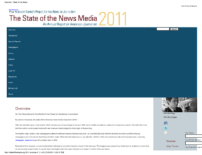 The State of the News Media 2011