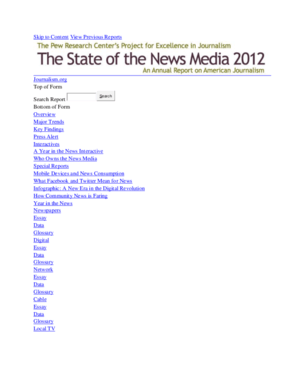 The State of the News Media 2012
