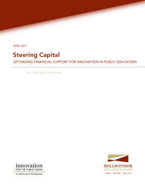 Steering Capital: Optimizing Financial Support for Innovation in Public Education