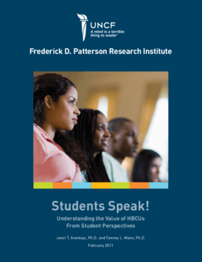 Students Speak! - Understanding the Value of HBCUs From Student Perspectives