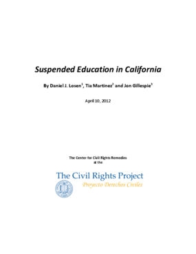 Suspended Education in California