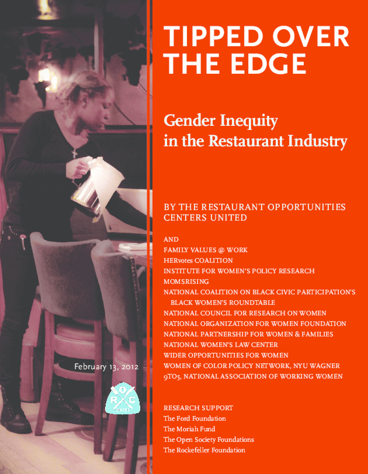 Tipped Over the Edge: Gender Inequity in the Restaurant Industry