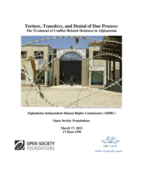 Torture, Transfers, and Denial of Due Process: The Treatment of Conflict-Related Detainees in Afghanistan