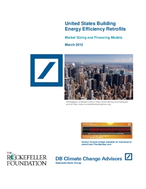 United States Building Energy Efficiency Retrofits: Market Sizing and Financing Models