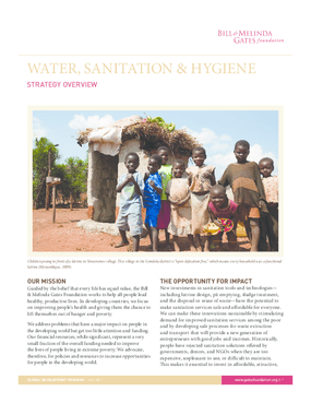 Water, Sanitation & Hygiene Strategy Overview