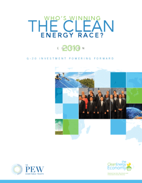 Who's Winning the Clean Energy Race? 2010 Edition