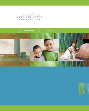 William Penn Foundation 2010 Annual Report