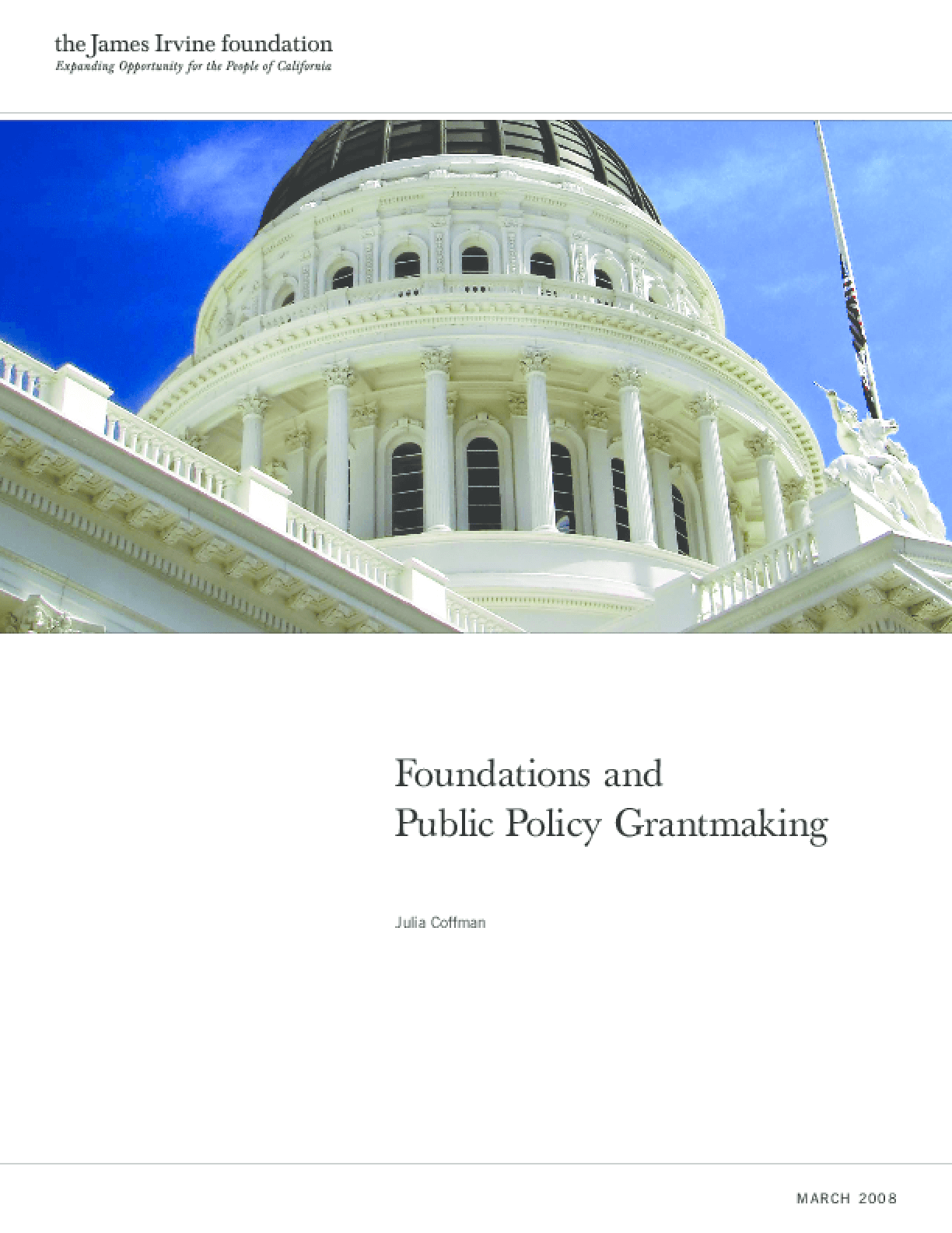 Foundations and Public Policy Grantmaking