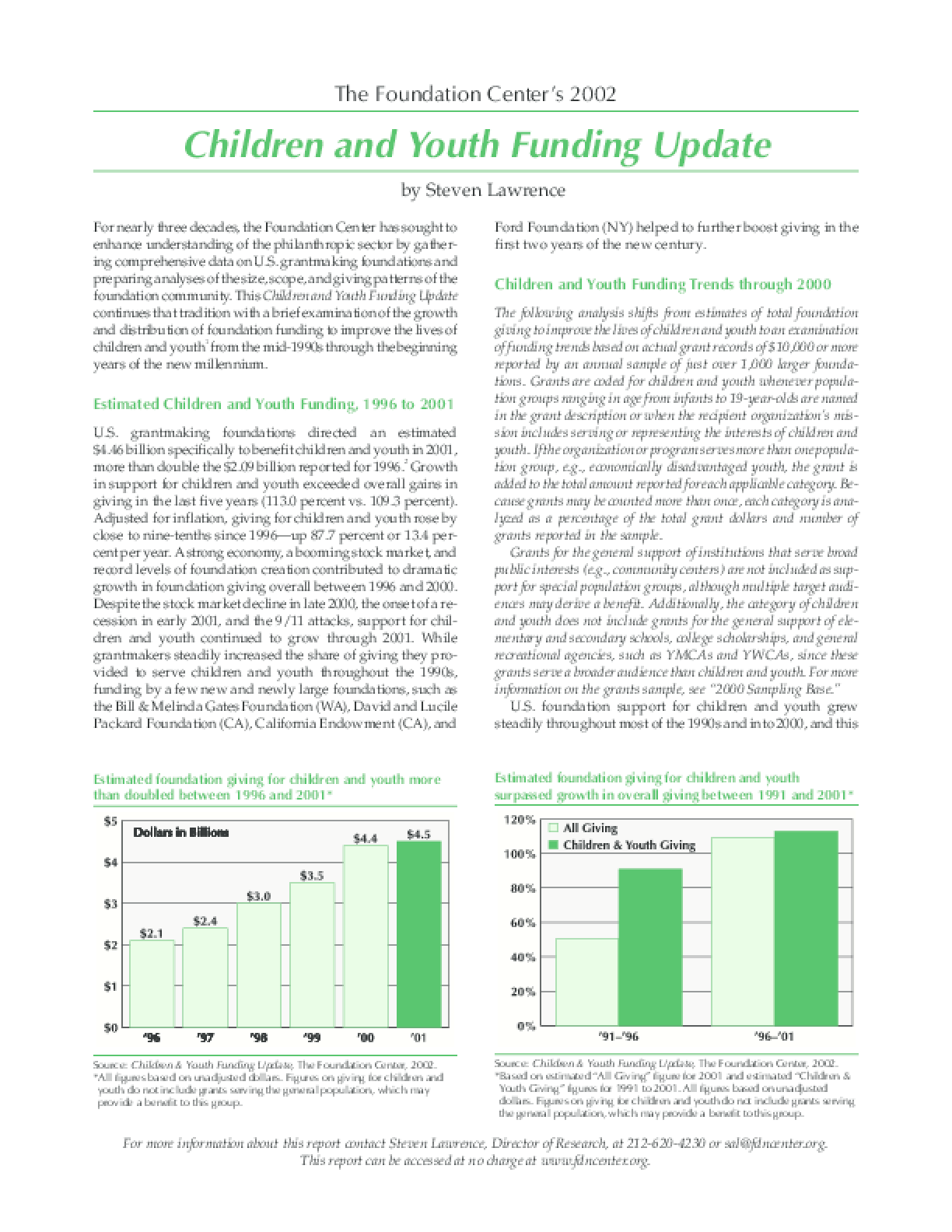 Children and Youth Funding Update