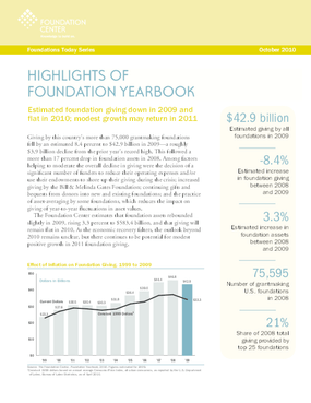 Foundations Today: Foundation Yearbook, 2010 edition (Highlights)