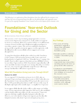 Foundations' Year-end Outlook for Giving and the Sector