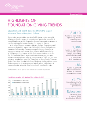 Foundation Giving Trends, 2011 Edition (Highlights)