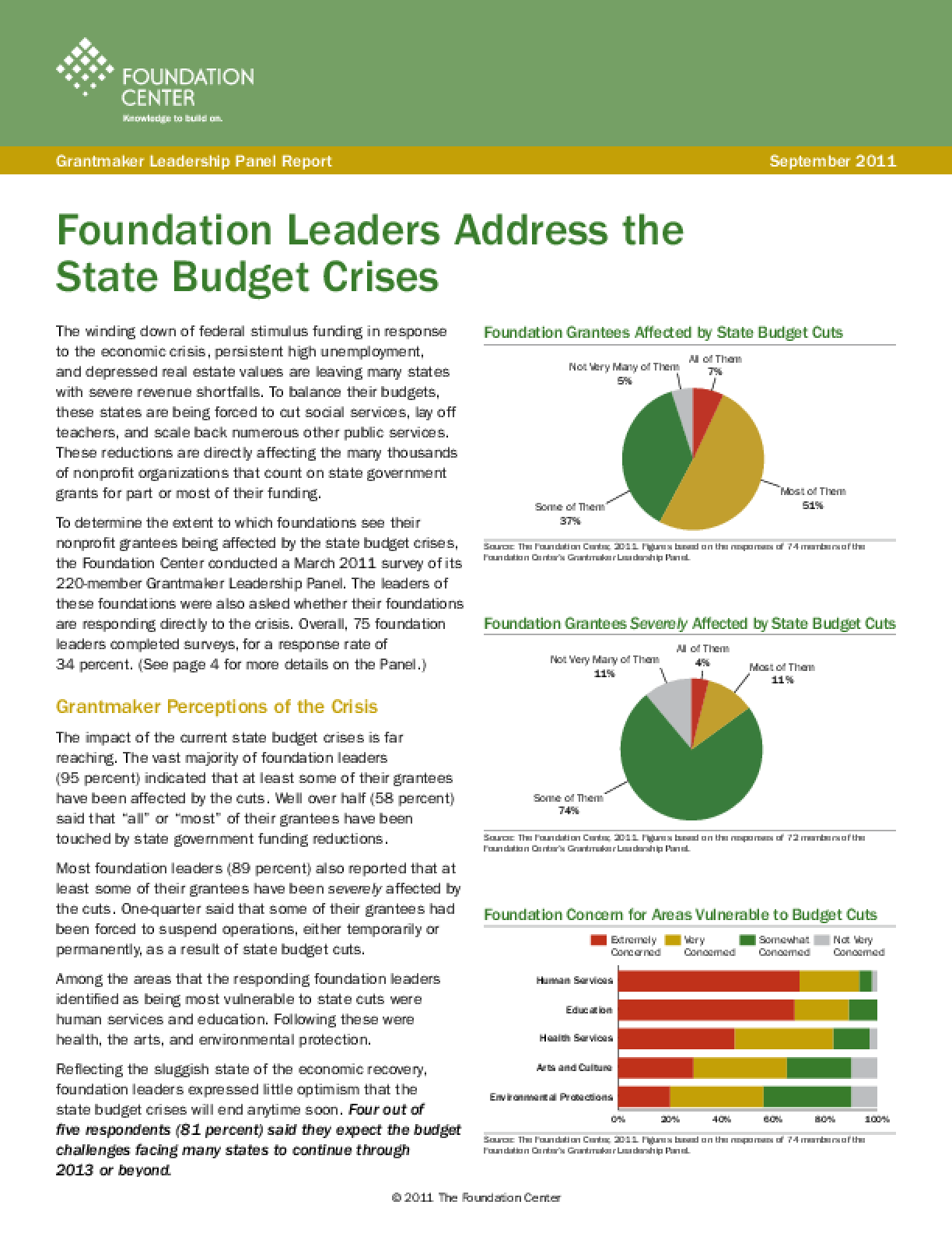 Foundation Leaders Address the State Budget Crises