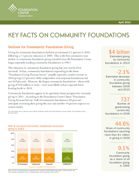 Key Facts on Community Foundations 2011