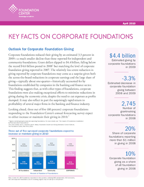 Key Facts on Corporate Foundations 2010