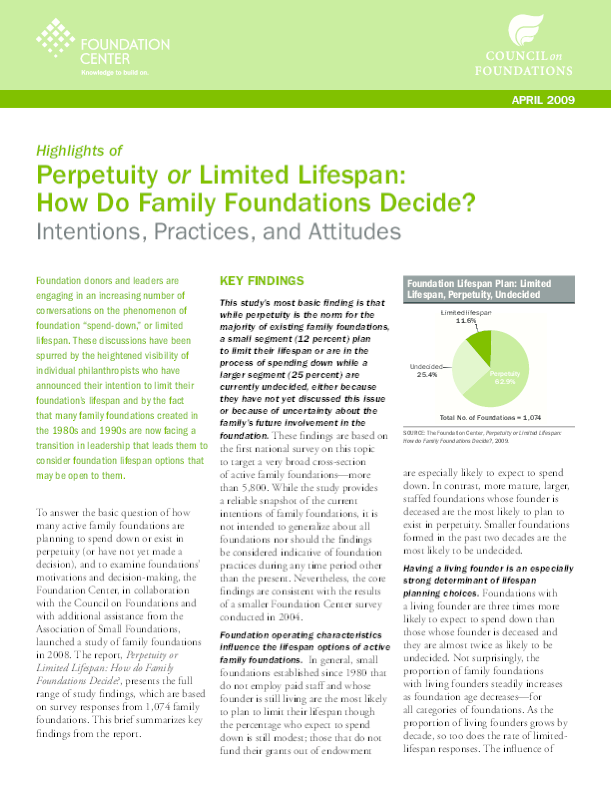 Perpetuity or Limited Lifespan: How Do Family Foundations Decide? (Highlights)
