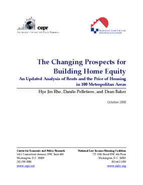 The Changing Prospects for Building Home Equity An Updated Analysis of Rents and the Price of Housing in 100 Metropolitan Areas
