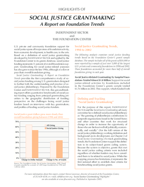 Social Justice Grantmaking: A Report on Foundation Trends